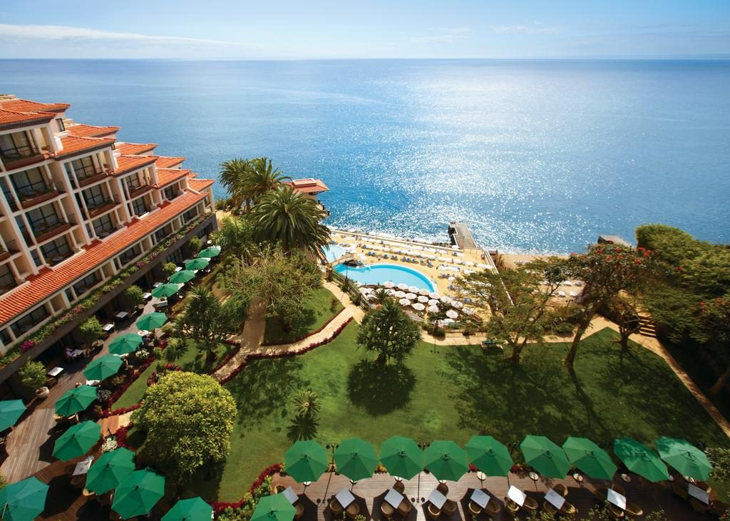 A beautiful view from the 5 star cliff bay hotel and resort in Madeira