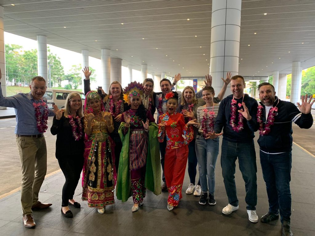 Event planners arriving at Kuala Lumpur for an incentive fam trip experience