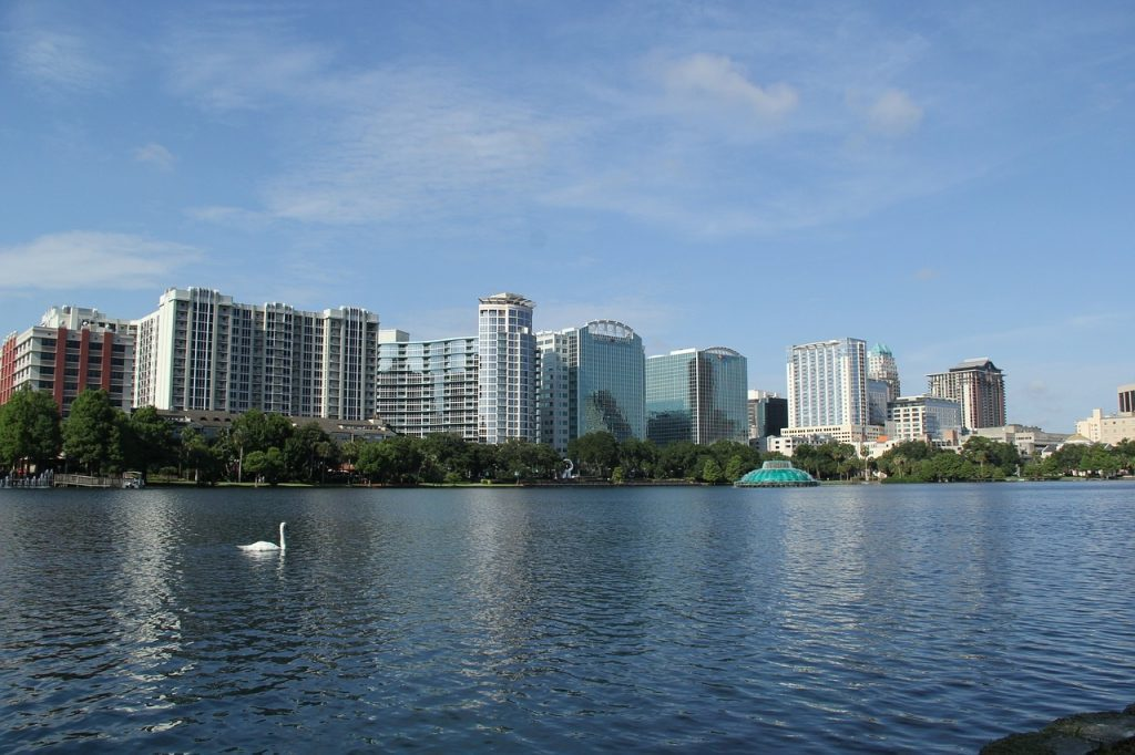 A skyline view of Orlando as an incentive and meeting destination