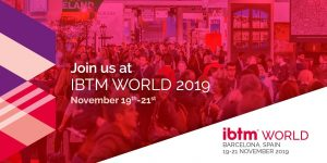 IBTM World Banner for micebook events diary