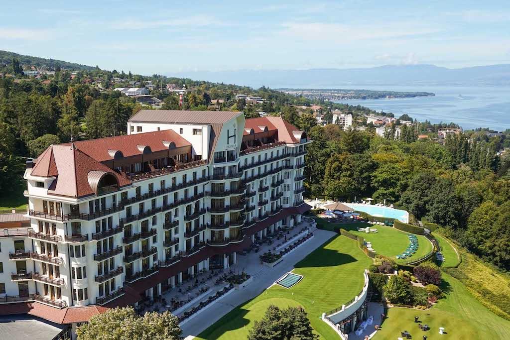 Birdseye view of the Evian Resort France