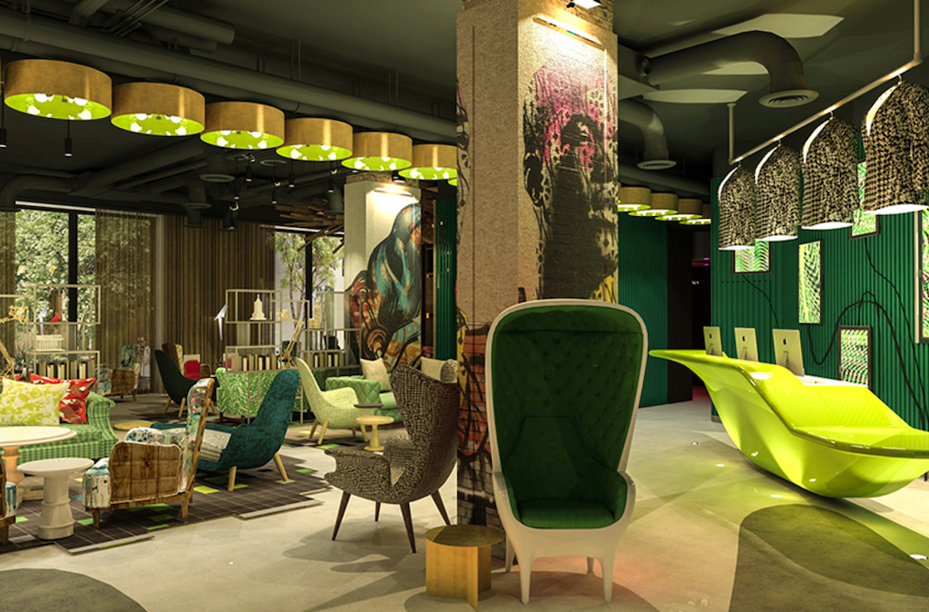 New Hotels in london featuring the Nhow Hotel Lobby